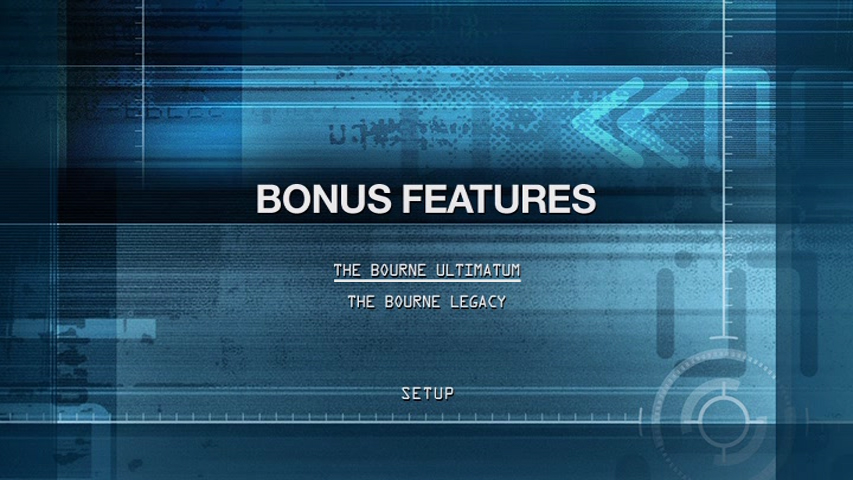 Bourne The Ultimate Collection Ultra HD Blu-ray Review Bonus DVD Menu