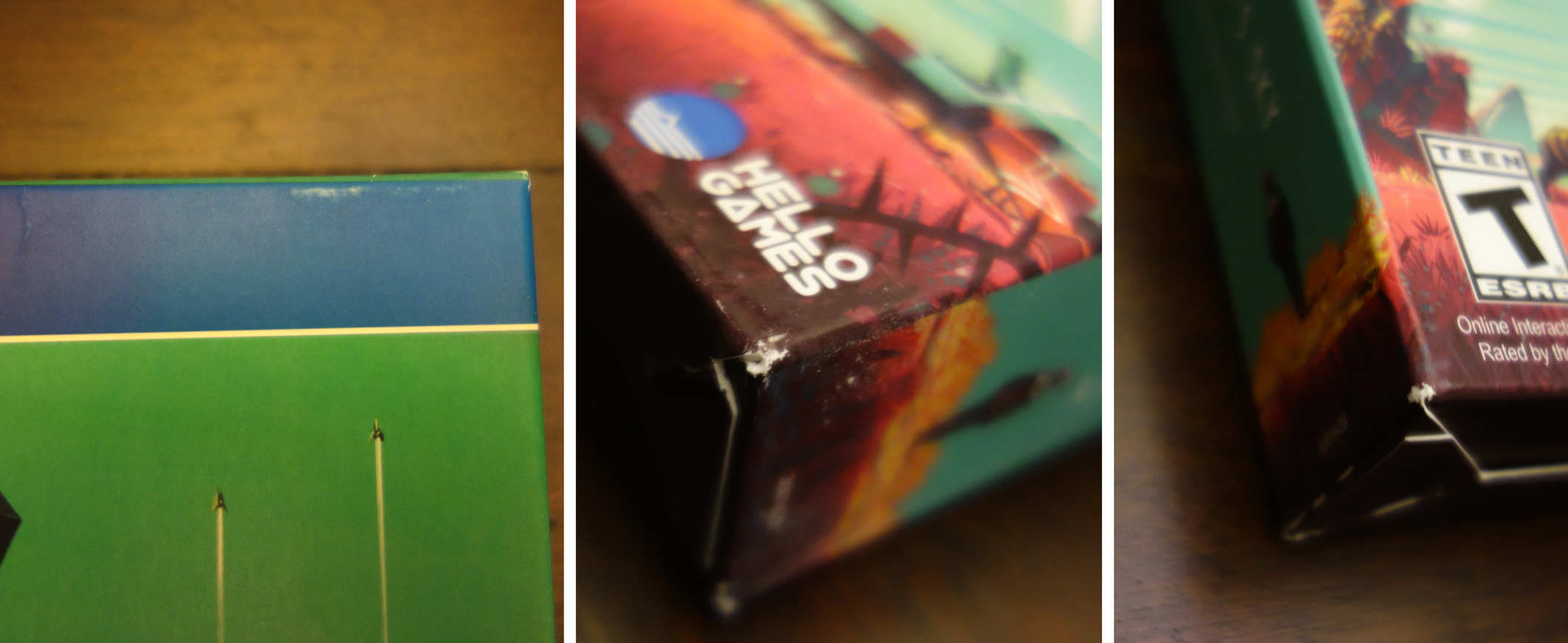 'No Man's Sky - Limited Edition PS4 box damage