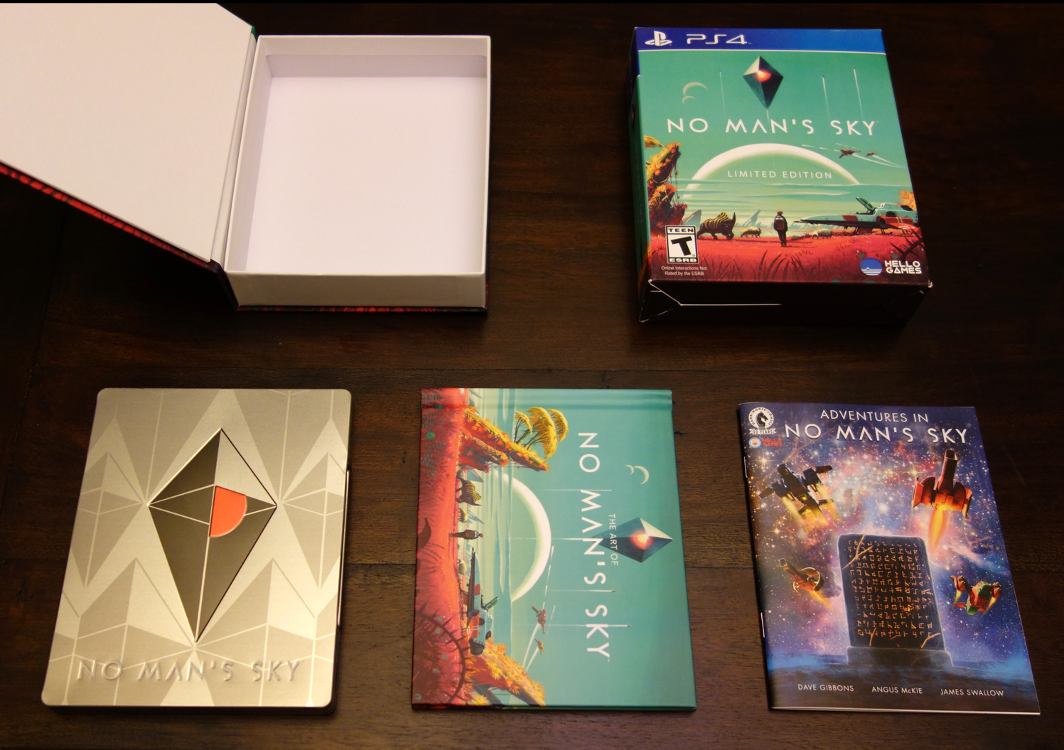'No Man's Sky - Limited Edition PS4 contents art book comic