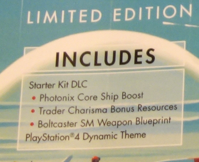 'No Man's Sky - Limited Edition PS4 Starter Kit DLC